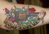 Pistol Tattoo by El Jefe